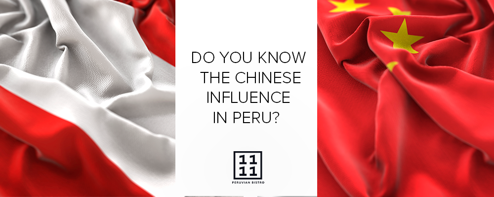 Peruvian and Chinese flags